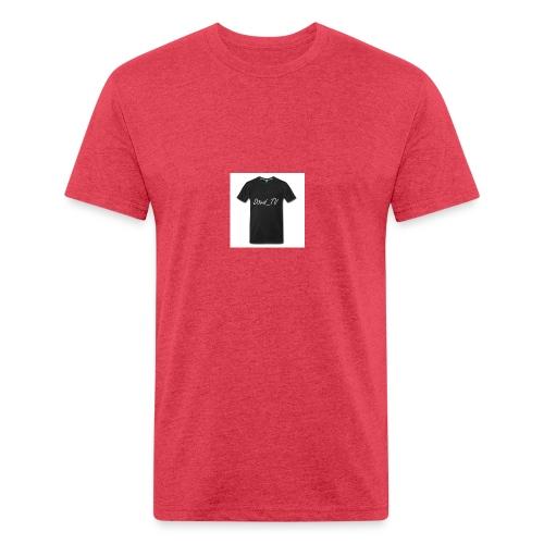Čierne tričko D3vid_TV - Fitted Cotton/Poly T-Shirt by Next Level