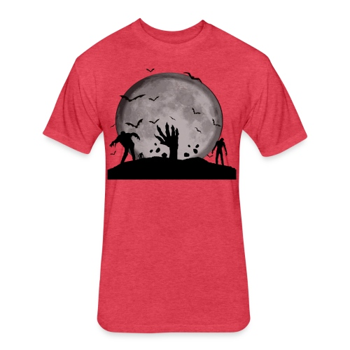 zombie shirt - Fitted Cotton/Poly T-Shirt by Next Level