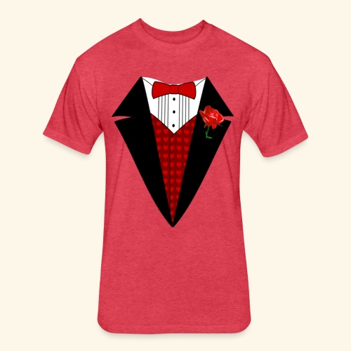 happy valentine Shirt for men - Fitted Cotton/Poly T-Shirt by Next Level