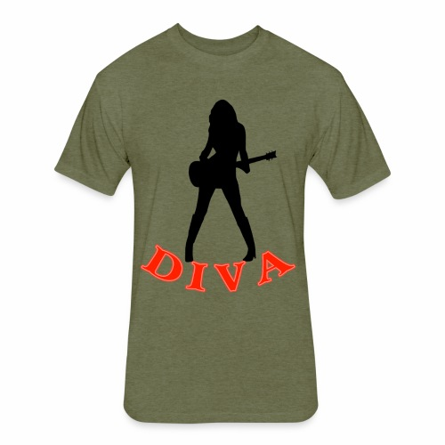 Rock Star Diva - Fitted Cotton/Poly T-Shirt by Next Level