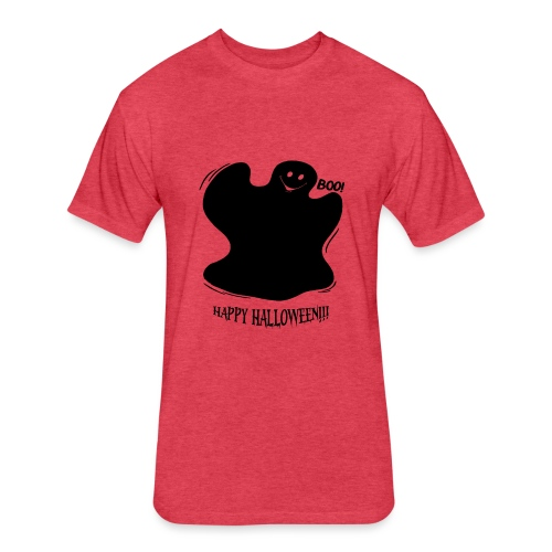 Boo! Ghost - Fitted Cotton/Poly T-Shirt by Next Level