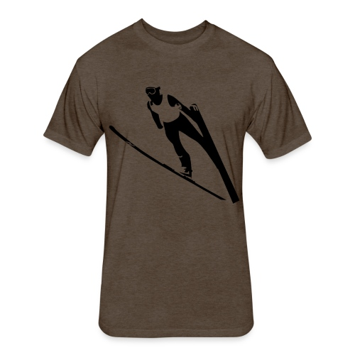 Ski Jumper - Fitted Cotton/Poly T-Shirt by Next Level