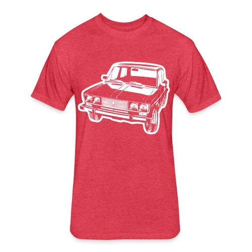 Lada 2106 illustration - Fitted Cotton/Poly T-Shirt by Next Level
