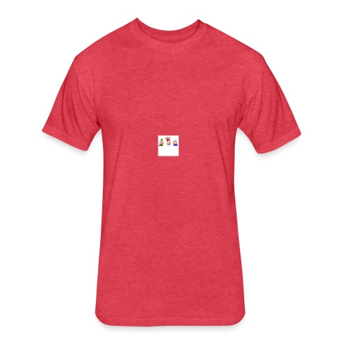 Smiles and Friends - Fitted Cotton/Poly T-Shirt by Next Level