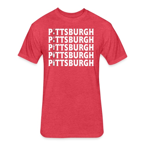 Ketch Up in PGH (Red) - Fitted Cotton/Poly T-Shirt by Next Level