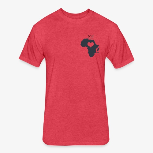 Herat Of Africa - Fitted Cotton/Poly T-Shirt by Next Level