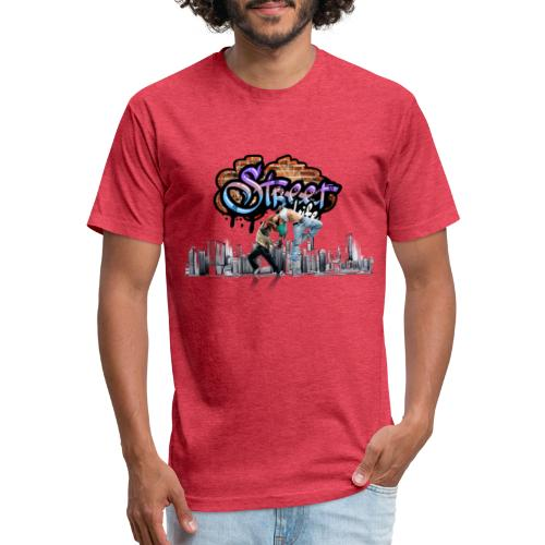 STREET LIFE - Fitted Cotton/Poly T-Shirt by Next Level