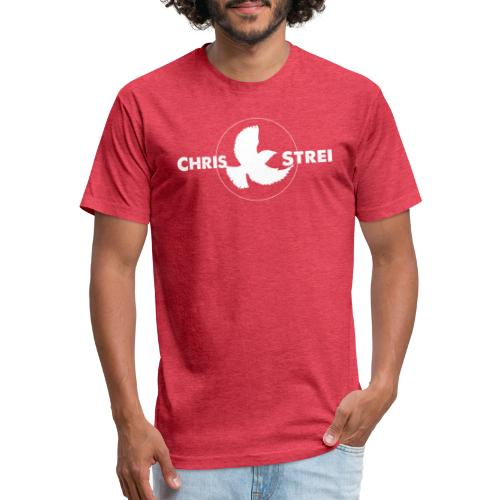 Chris Strei BlackBird Logo (white) - Fitted Cotton/Poly T-Shirt by Next Level