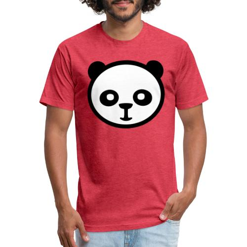 Panda bear, Big panda, Giant panda, Bamboo bear - Fitted Cotton/Poly T-Shirt by Next Level