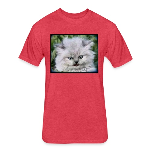 Pritty Kitteh - Fitted Cotton/Poly T-Shirt by Next Level