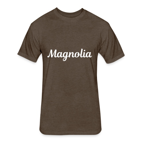 Magnolia Abstract Design. - Fitted Cotton/Poly T-Shirt by Next Level