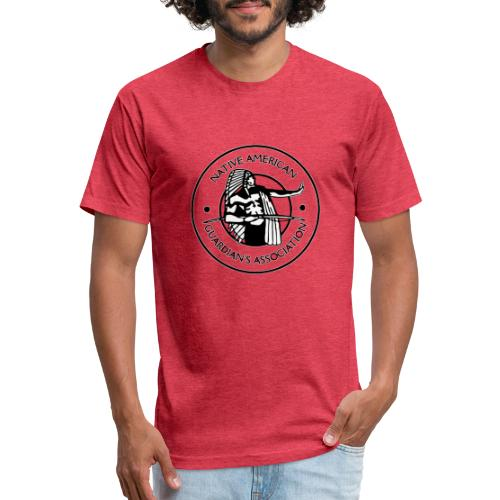 Naga LOGO Outlined - Fitted Cotton/Poly T-Shirt by Next Level