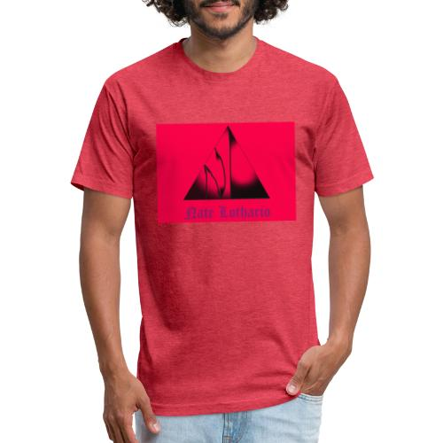 Pink Logo - Fitted Cotton/Poly T-Shirt by Next Level