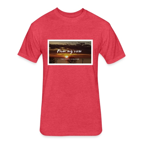 THE HAPPY CANADIAN - Fitted Cotton/Poly T-Shirt by Next Level