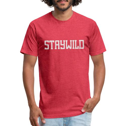 STAYWILD - Fitted Cotton/Poly T-Shirt by Next Level