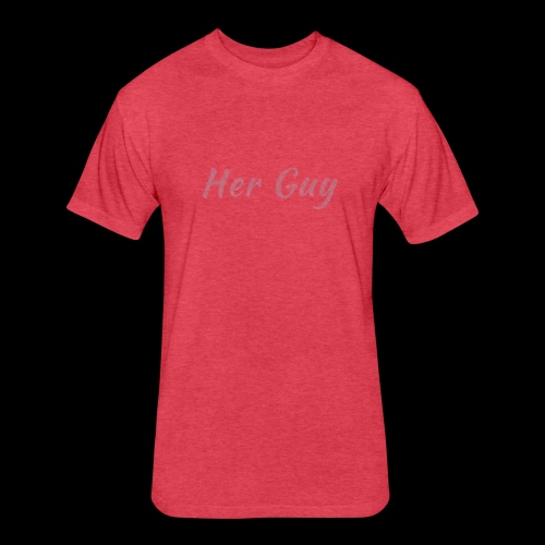 Her Guy - Fitted Cotton/Poly T-Shirt by Next Level