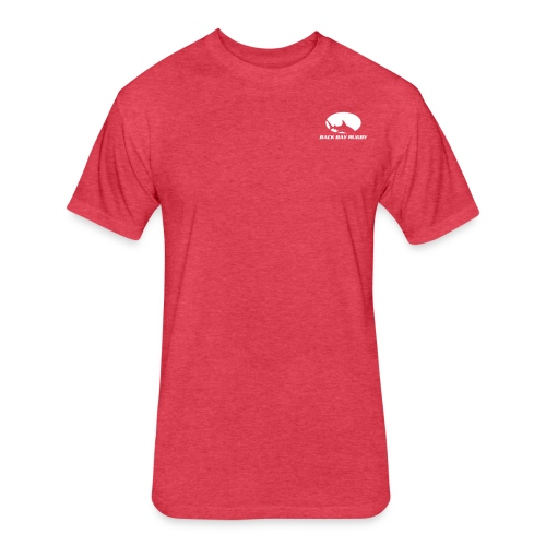 Back Bay Sharks-New Logo- - Fitted Cotton/Poly T-Shirt by Next Level