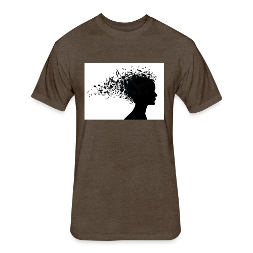 music through my head - Fitted Cotton/Poly T-Shirt by Next Level