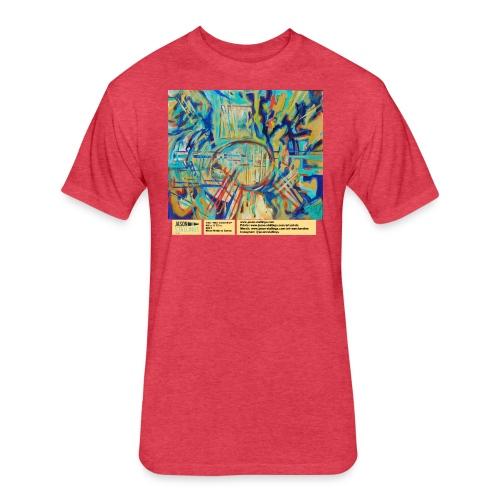 blue guitar riot - Fitted Cotton/Poly T-Shirt by Next Level