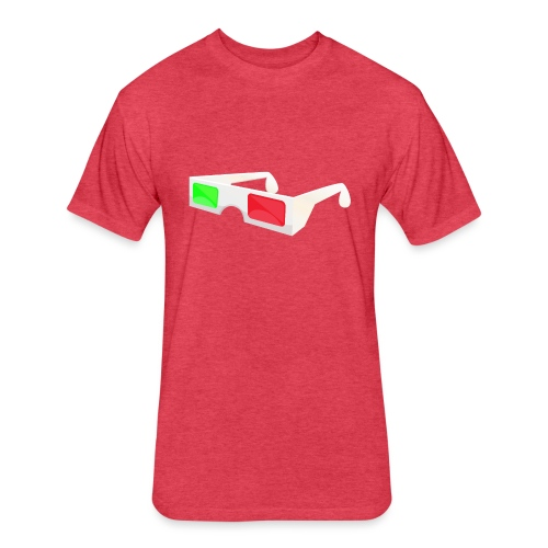 3D red green glasses - Fitted Cotton/Poly T-Shirt by Next Level