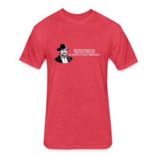 Bruce Schneier Fact #15 - Fitted Cotton/Poly T-Shirt by Next Level
