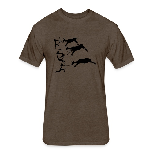 Lascaux Cave Painting - Fitted Cotton/Poly T-Shirt by Next Level