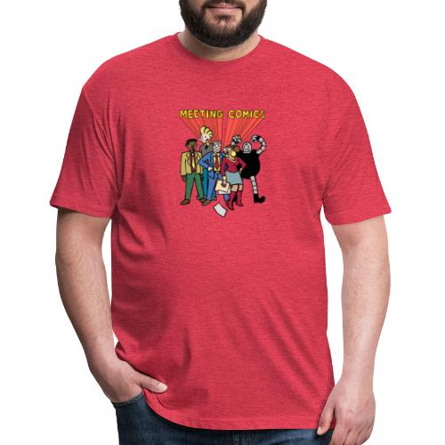 MEETING COMICS CAST - Fitted Cotton/Poly T-Shirt by Next Level