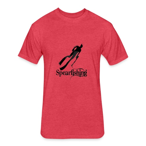 Spearfishing Design - Fitted Cotton/Poly T-Shirt by Next Level