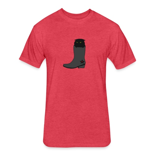Puss In Boots - Fitted Cotton/Poly T-Shirt by Next Level