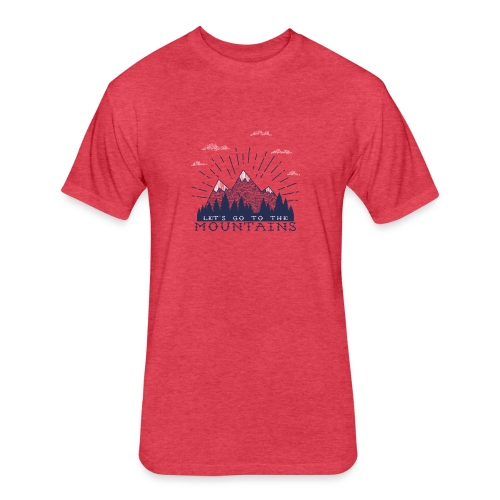 Adventure Mountains T-shirts and Products - Fitted Cotton/Poly T-Shirt by Next Level