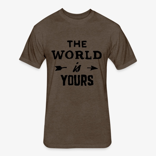 the world - Fitted Cotton/Poly T-Shirt by Next Level