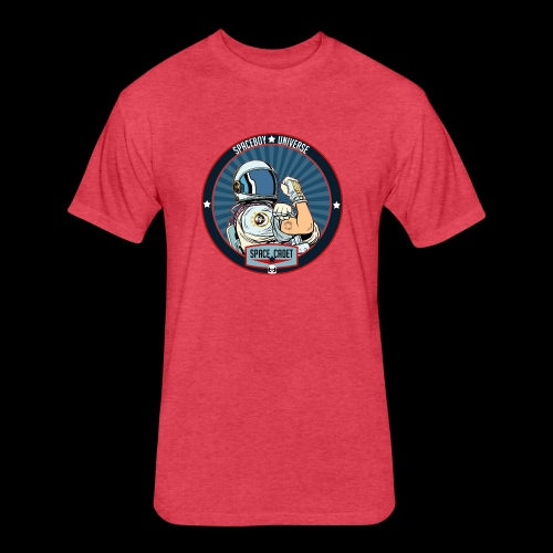 Space Cadet Can Do Badge - Fitted Cotton/Poly T-Shirt by Next Level