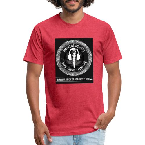 Smokers Society - Fitted Cotton/Poly T-Shirt by Next Level