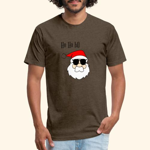 Christmas Santa HoHoHo design - Fitted Cotton/Poly T-Shirt by Next Level