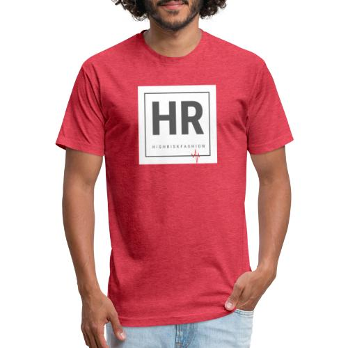 HR - HighRiskFashion Logo Shirt - Fitted Cotton/Poly T-Shirt by Next Level