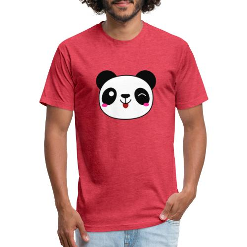 Panda T-Shirts and Hoodies for Men and Women - Fitted Cotton/Poly T-Shirt by Next Level
