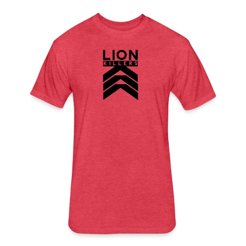 Lion Killers Logo - Red Range - Fitted Cotton/Poly T-Shirt by Next Level