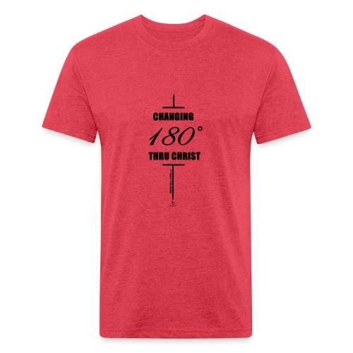 Changement à 180 degrés grâce au CHRIST - T-shirt ajusté poly/coton pour hommes
