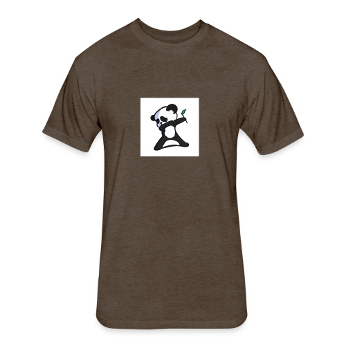 Panda DaB - Fitted Cotton/Poly T-Shirt by Next Level