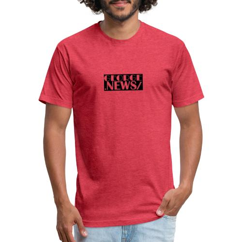 GEORGE NEWS V6 BLACK - Fitted Cotton/Poly T-Shirt by Next Level