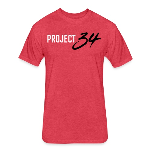 Reds_Project 34 - Fitted Cotton/Poly T-Shirt by Next Level