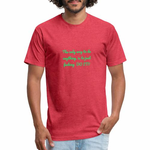 Therhappy/inspiration - Fitted Cotton/Poly T-Shirt by Next Level