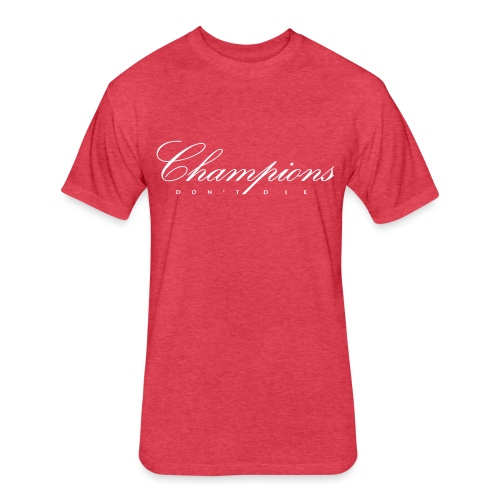 Champions Red - Fitted Cotton/Poly T-Shirt by Next Level