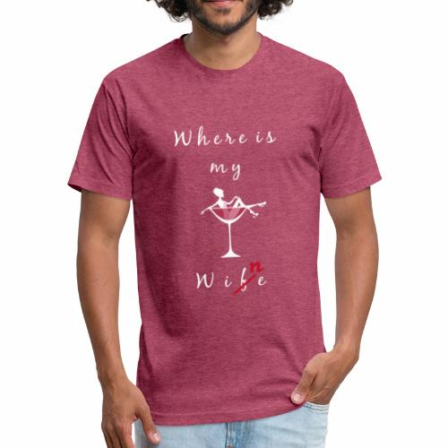 Love4Wine - Fitted Cotton/Poly T-Shirt by Next Level