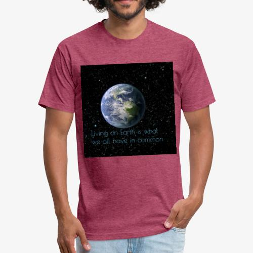 The Great Earth - Fitted Cotton/Poly T-Shirt by Next Level