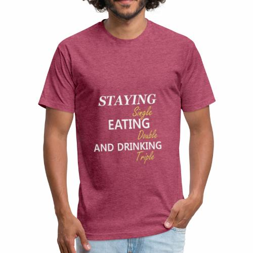 Funny T-shirt for Single My life goals are - Fitted Cotton/Poly T-Shirt by Next Level
