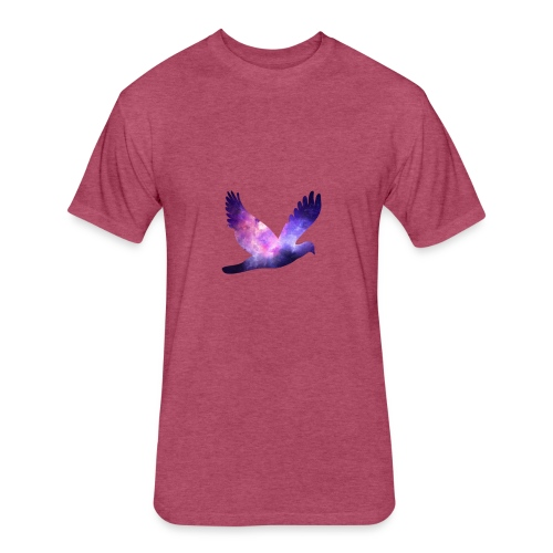 Galaxy bird - Fitted Cotton/Poly T-Shirt by Next Level