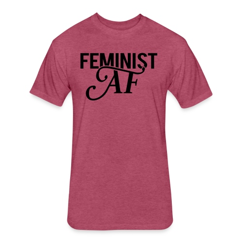 Feminist AF Shirt - Fitted Cotton/Poly T-Shirt by Next Level