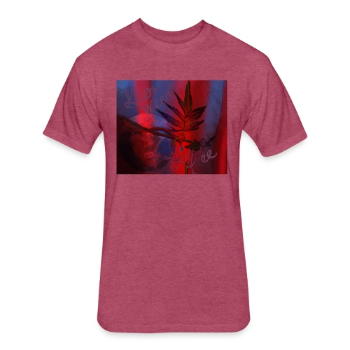 Grow Weed Live Free Print by NY Artist - Fitted Cotton/Poly T-Shirt by Next Level
