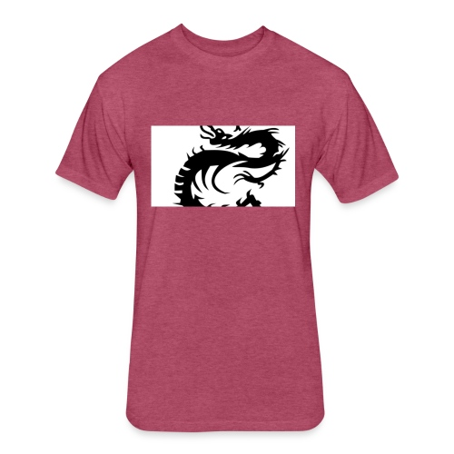 Tired Dragon - Fitted Cotton/Poly T-Shirt by Next Level
